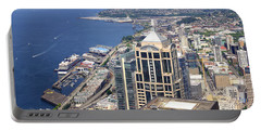 Seattle Skyscrapers At Waterfront Portable Battery Charger by Panoramic Images