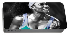 Serena Williams Ace Portable Battery Charger by Brian Reaves