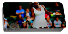 Serena Williams Making It Look Easy Portable Battery Charger by Brian Reaves