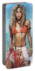Shakira Artwork Portable Battery Charger by Sheraz A