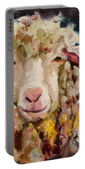 Sheep Alert Portable Battery Charger by Diane Whitehead