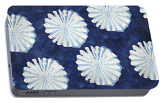 Shibori IIi Portable Battery Charger by Elizabeth Medley