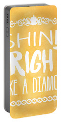 Shine Bright Orange Portable Battery Charger by Pati Photography