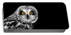 Short-eared Owl Portable Battery Charger by Mark Rogan
