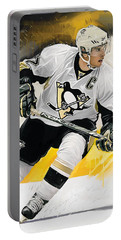 Sidney Crosby Artwork Portable Battery Charger by Sheraz A