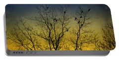 Silhouette Birds Sequel Portable Battery Charger by Christina Rollo