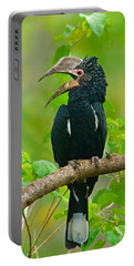 Silvery-cheeked Hornbill Perching Portable Battery Charger by Panoramic Images