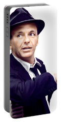 Sinatra.  Frank Sinatra Portable Battery Charger by Iconic Images Art Gallery David Pucciarelli