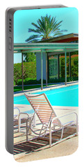 Sinatra Pool Palm Springs Portable Battery Charger by William Dey