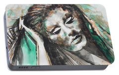 Singer Adele 01 Portable Battery Charger by Chrisann Ellis