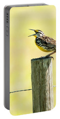 Singing Meadowlark Portable Battery Charger by Norman Johnson