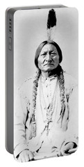 Sioux Chief Sitting Bull Portable Battery Charger by War Is Hell Store
