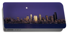 Skyscrapers At The Waterfront, Elliott Portable Battery Charger by Panoramic Images