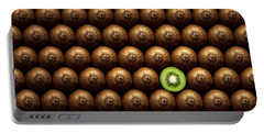 Sliced Kiwi Between Group Portable Battery Charger by Johan Swanepoel
