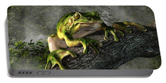 Smiling Frog Portable Battery Charger by Daniel Eskridge