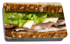 Smoked Turkey Sandwich Portable Battery Charger by Edward Fielding