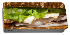 Smoked Turkey Sandwich Portable Battery Charger by Edward Fielding