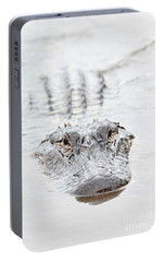 Sneaky Swamp Gator Portable Battery Charger by Carol Groenen