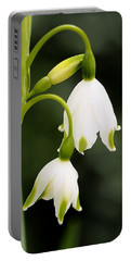 Snowbells In Spring Portable Battery Charger by Rona Black