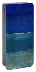 Soft Crashing Waves- Abstract Landscape Portable Battery Charger by Linda Woods