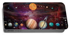 Solar System 1 Portable Battery Charger by Garry Walton