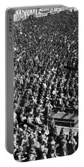 Baseball Fans At Yankee Stadium In New York   Portable Battery Charger by Underwood Archives