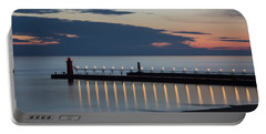 South Haven Michigan Lighthouse Portable Battery Charger by Adam Romanowicz