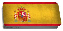 Spain Flag Vintage Distressed Finish Portable Battery Charger by Design Turnpike