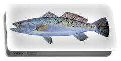 Speckled Trout Portable Battery Charger by Carey Chen