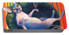 Sphynx Cat Relaxing Portable Battery Charger by Svetlana Novikova