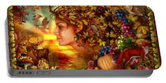 Spirit Of Autumn Portable Battery Charger by Ciro Marchetti