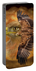 Spirit Of The Wind Portable Battery Charger by Carol Cavalaris
