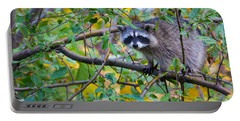 Spokane Raccoon Portable Battery Charger by Inge Johnsson