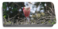 Spoonbill In The Branches Portable Battery Charger by Carol Groenen