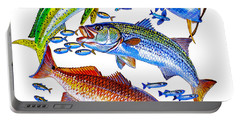 Sportfish Collage Portable Battery Charger by Carey Chen