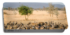 Spotted Hyenas Crocuta Crocuta Portable Battery Charger by Panoramic Images