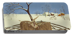 Spring In Winter Portable Battery Charger by Magdolna Ban