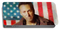 Springsteen American Icon Portable Battery Charger by Dan Sproul