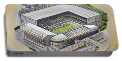 St  James Park - Newcastle United Portable Battery Charger by D J Rogers