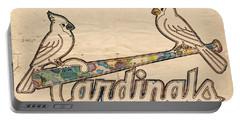 St Louis Cardinals Poster Art Portable Battery Charger by Florian Rodarte