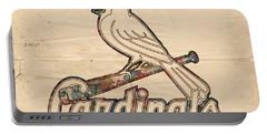 St Louis Cardinals Poster Vintage Portable Battery Charger by Florian Rodarte
