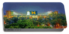 Stadium At Night Portable Battery Charger by John Farr