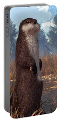 Standing Otter Portable Battery Charger by Daniel Eskridge