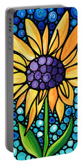 Standing Tall - Sunflower Art By Sharon Cummings Portable Battery Charger by Sharon Cummings