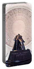 Statue Of Thomas Jefferson Portable Battery Charger by Panoramic Images