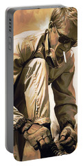Steve Mcqueen Artwork Portable Battery Charger by Sheraz A