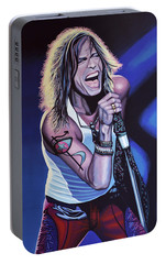 Steven Tyler Of Aerosmith Portable Battery Charger by Paul Meijering
