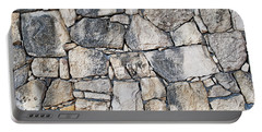 Stone Wall Texture Portable Battery Charger by Antony McAulay