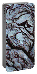 Stormy Day Greenwich Park Portable Battery Charger by Ellen Golla