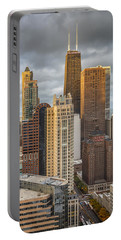 Streeterville From Above Portable Battery Charger by Adam Romanowicz